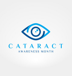 Cataract awareness month vector
