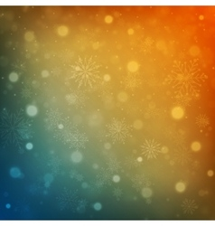 Christmas background snowflakes with lights vector