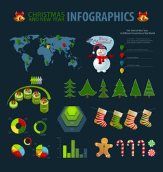 christmas infographics vector image