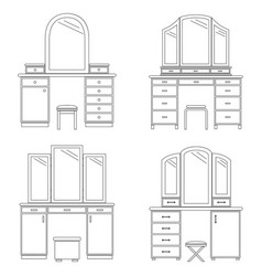 collection dressing tables vector image