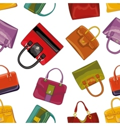Colorful handbags Seamless patternFashion vector image