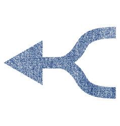 combine arrow left fabric textured icon vector image