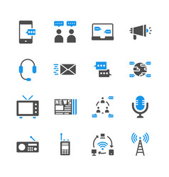 communication device in glyph icon set vector image