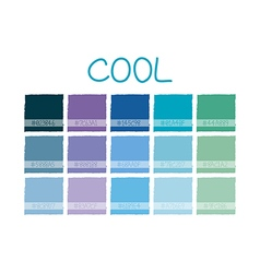 Cool Color Tone vector
