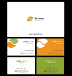 corporate logo identity and business card vector image