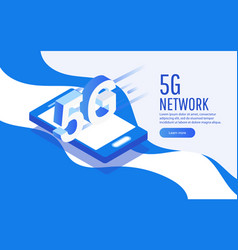 creative 5g network wireless technology concept vector image
