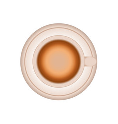 cup coffee plate design vector image