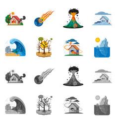Design natural and disaster symbol set vector