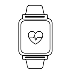 Electronic watch with media screen graphic vector
