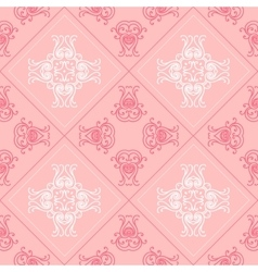 Elegant geometric background made of floral vector image
