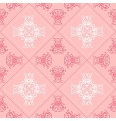 Elegant geometric background made of floral vector image
