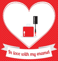 Enamel love vector