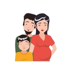 Family boy pregnant couple parents icon vector