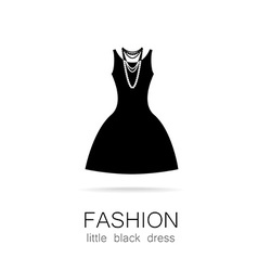 fashion little black dress template vector image