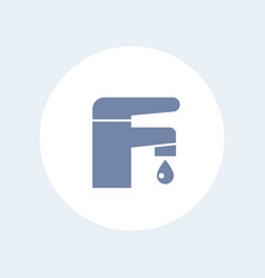 faucet icon isolated on white vector image