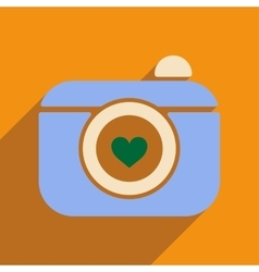 Flat web icon with long shadow camera vector
