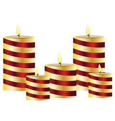 Glowing Candles Set vector