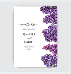 hand drawn invitation for wedding card vector image