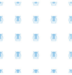 harp icon pattern seamless white background vector image