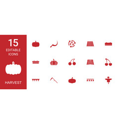 harvest icons vector image