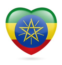 Heart icon of Ethiopia vector