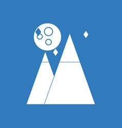 Icon moon and pyramids vector