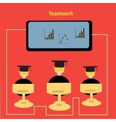 icon teamwork vector image