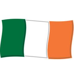 irish flag graphic vector image
