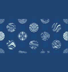 japanese textiles seamless pattern vector image