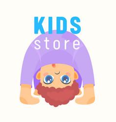 kids store banner baby shop label or emblem vector image