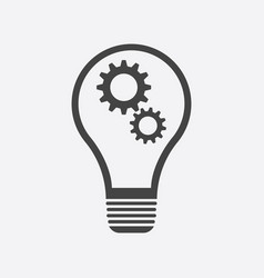 lamp sign icon flat idea vector image