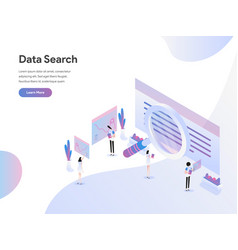 landing page template data search isometric vector image