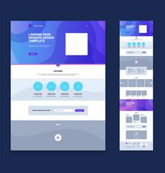 landing page website design template set vector image