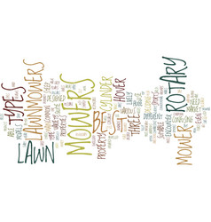 lawn mowers text background word cloud concept vector image