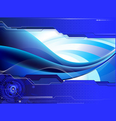 modern wavy composition vector image