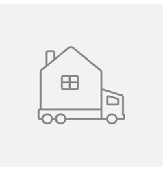 Motorhome line icon vector image