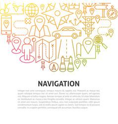 navigation line concept vector image