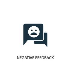 Negative feedback icon simple element vector