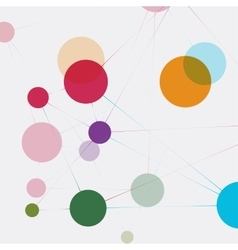 Network technology communication background vector image