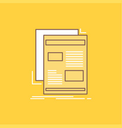news newsletter newspaper media paper flat line vector image
