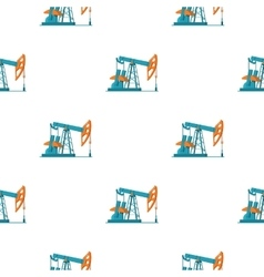 Oil pumpjack icon in cartoon style isolated on vector