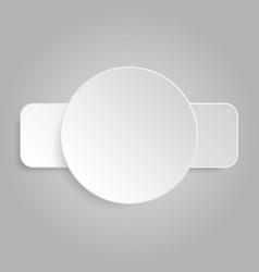 Paper Banner Mockup Tectangle circle vector