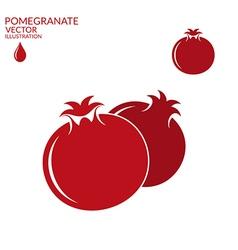 Pomegranate Set vector