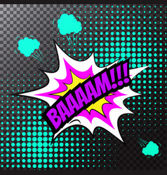 pop art comic speech bubble bam vector image
