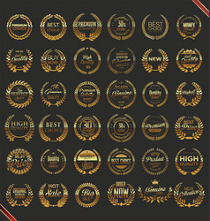 premium quality laurel wreath collection vector image