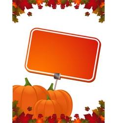 Pumpkin border vector