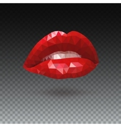 Red triangle Lips vector image