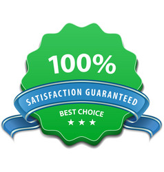 Satisfaction guaranteed sign vector image