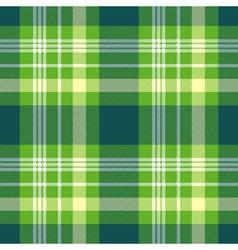 Seamless plaid pattern in bright green yellow and vector image