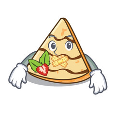 Silent crepe mascot cartoon style vector